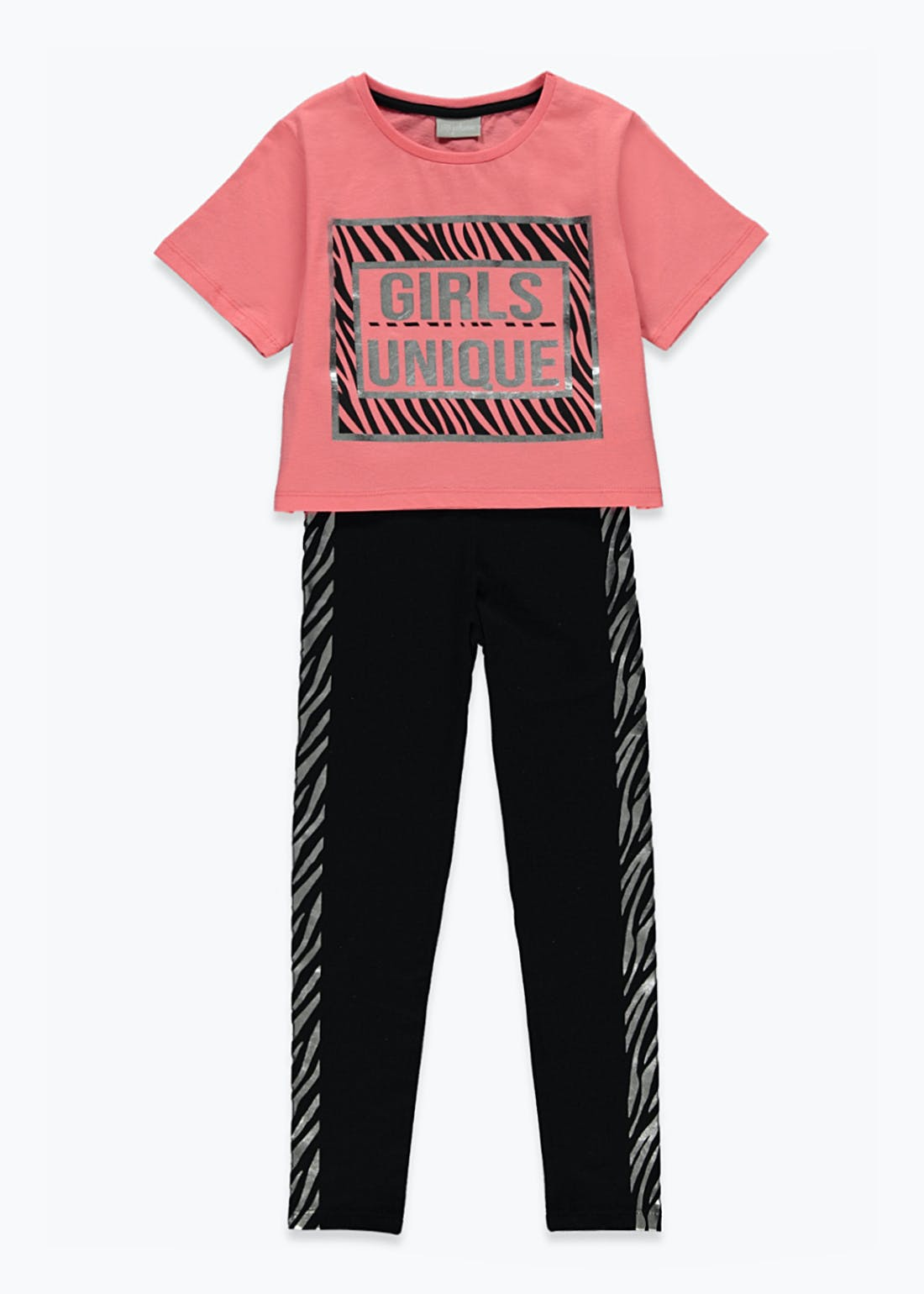 Girls Unique Top & Leggings Set (4-13yrs)