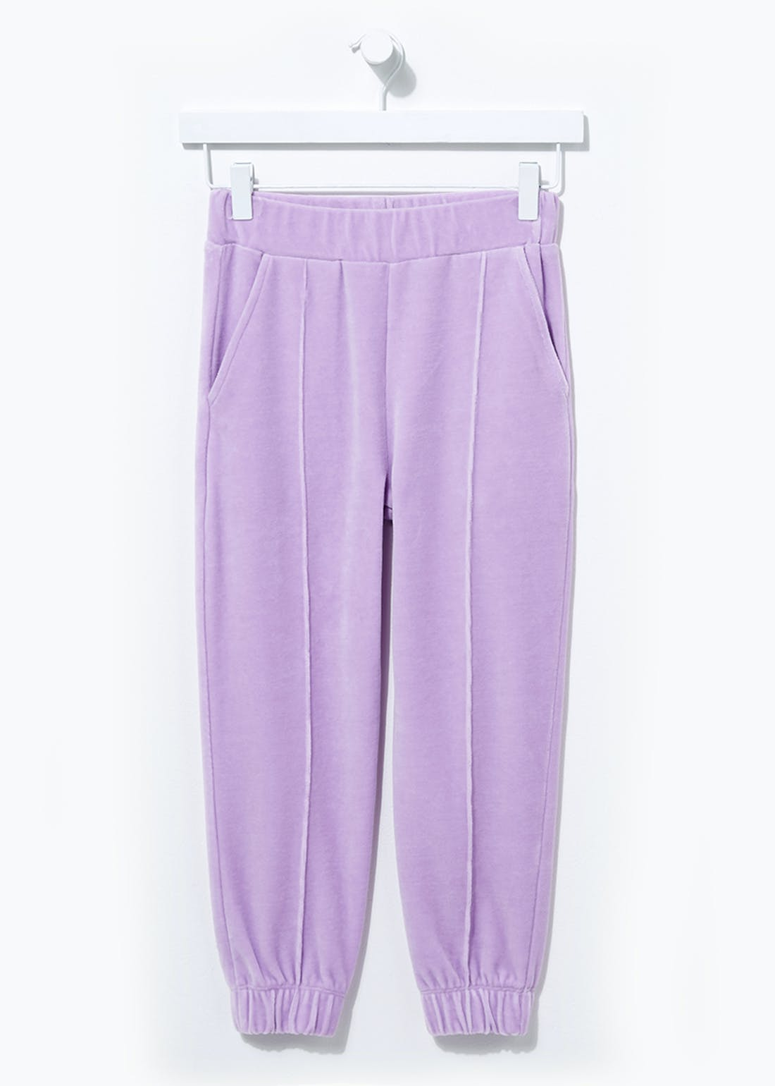 Girls Velour Pleated Joggers (4-13yrs)