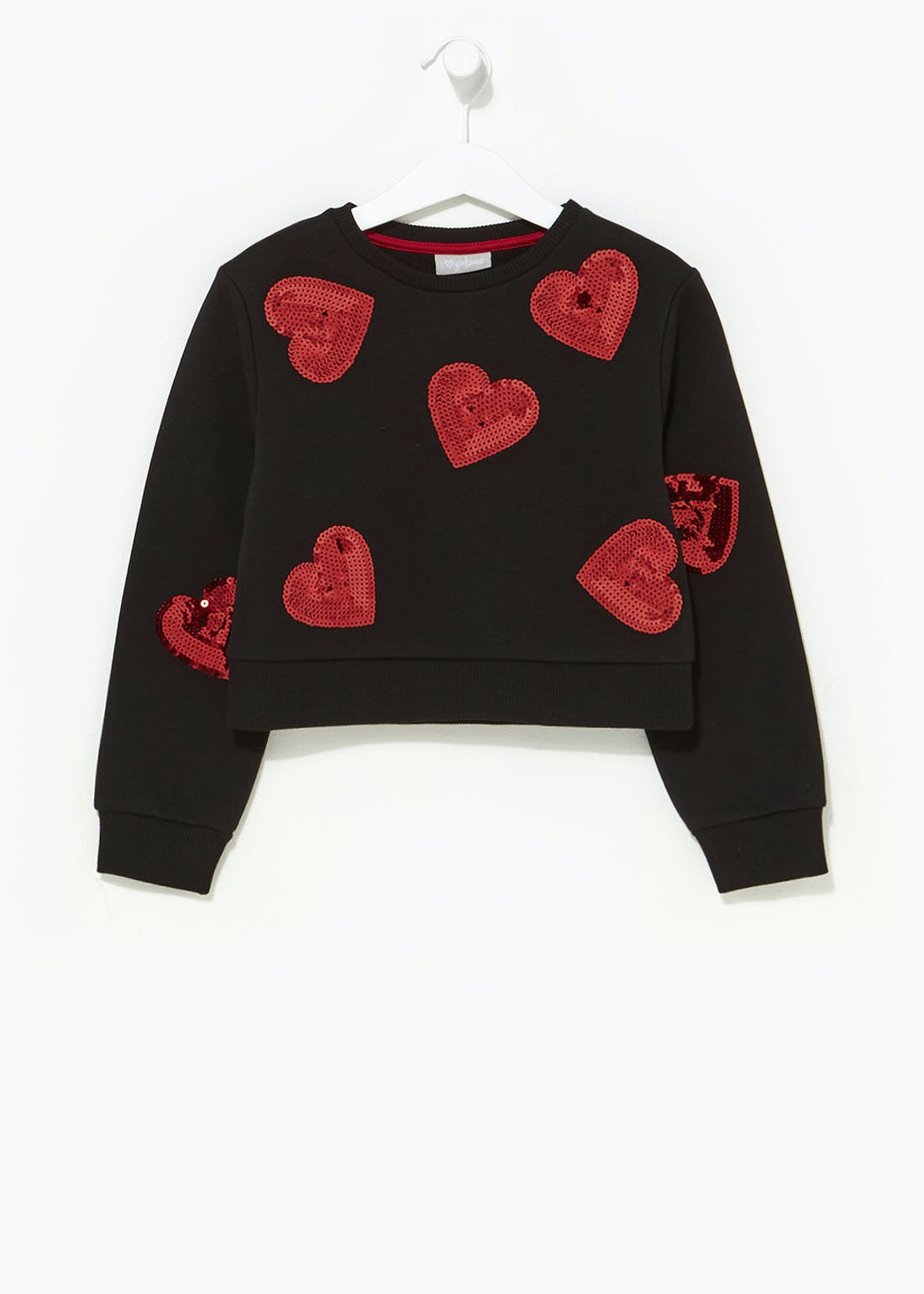 Girls Sequin Heart Sweatshirt (4-13yrs)
