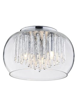 Inlight Chrome Rods 3 Light Flush Ceiling Light (15cm x 24cm x 24cm)
