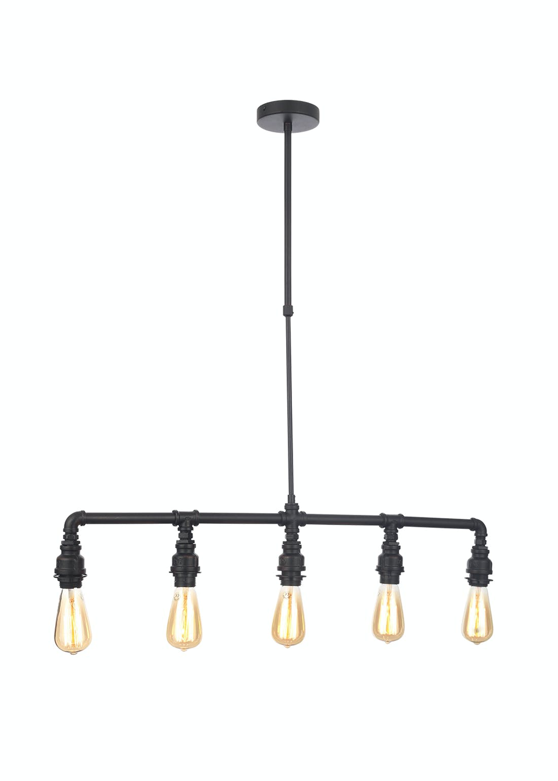 Inlight Quinn 5 Light Pipe Bar Diner Pendant (100cm x 83cm x 12cm)