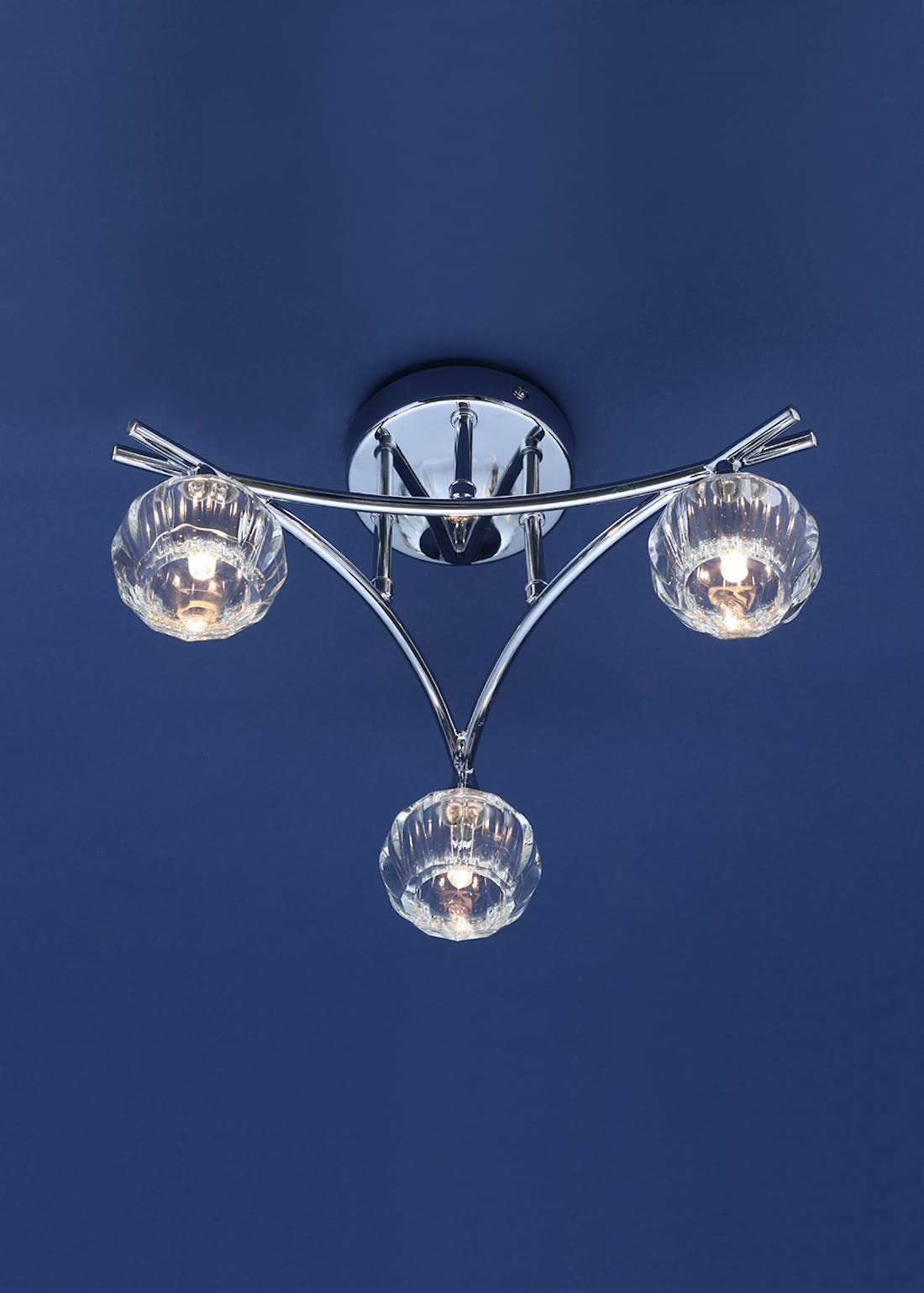 Inlight Hati 3 Light Flush Ceiling Light (18cm x 38cm x 38cm)