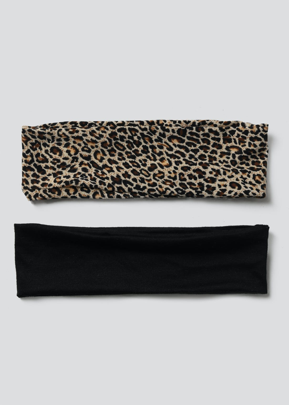 Essentials 2 Pack Leopard Head Band