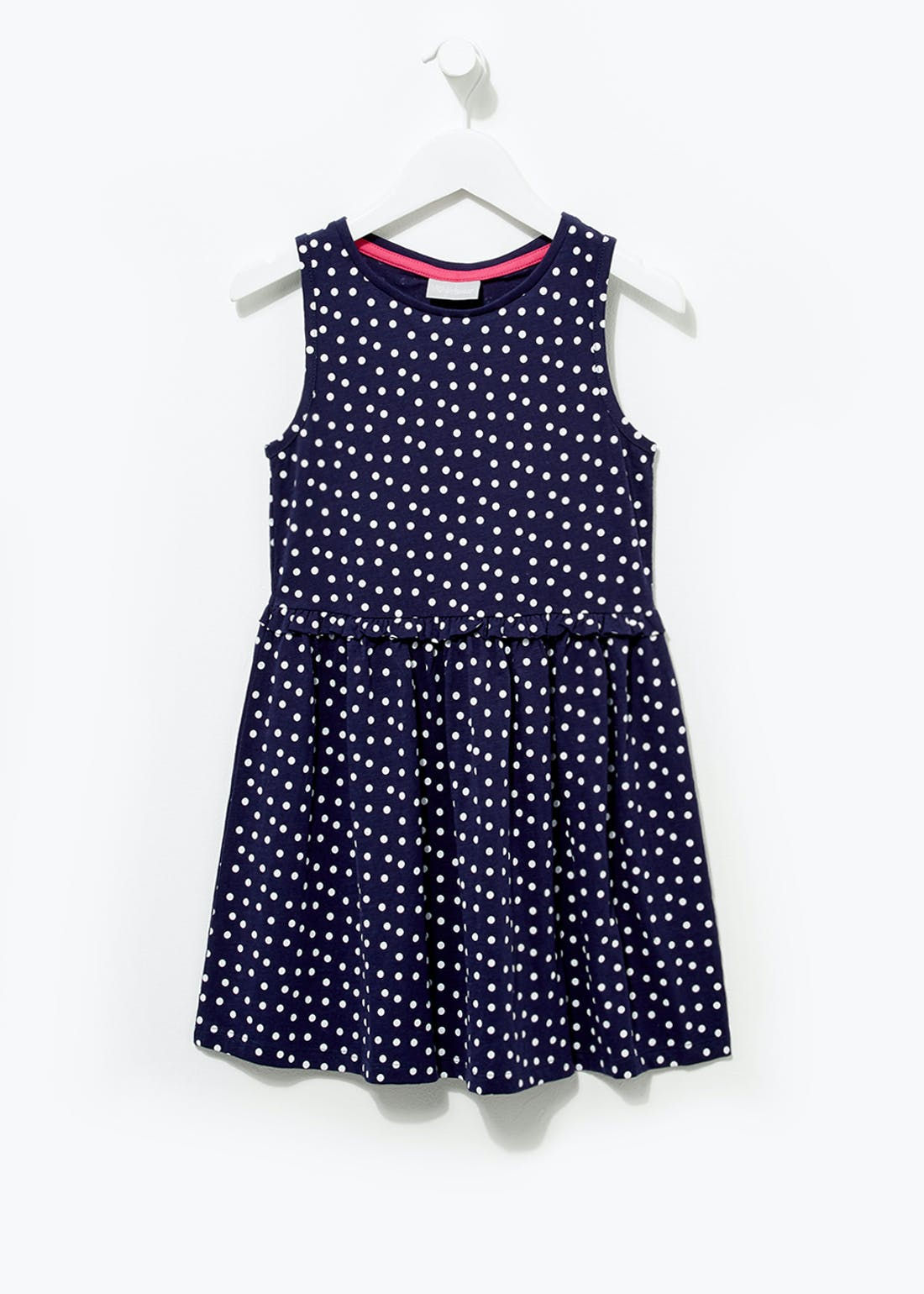 Girls Sleeveless Spot Print Dress (4-13yrs)