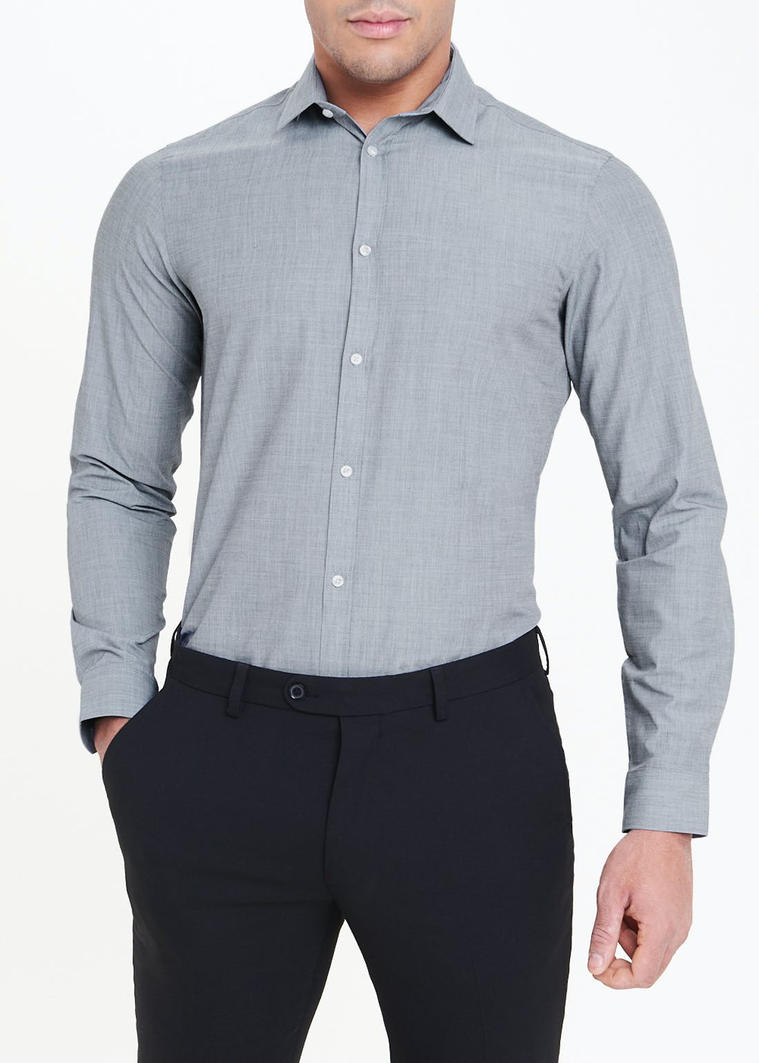 Taylor & Wright 2 Pack Long Sleeve Slim Fit Shirts