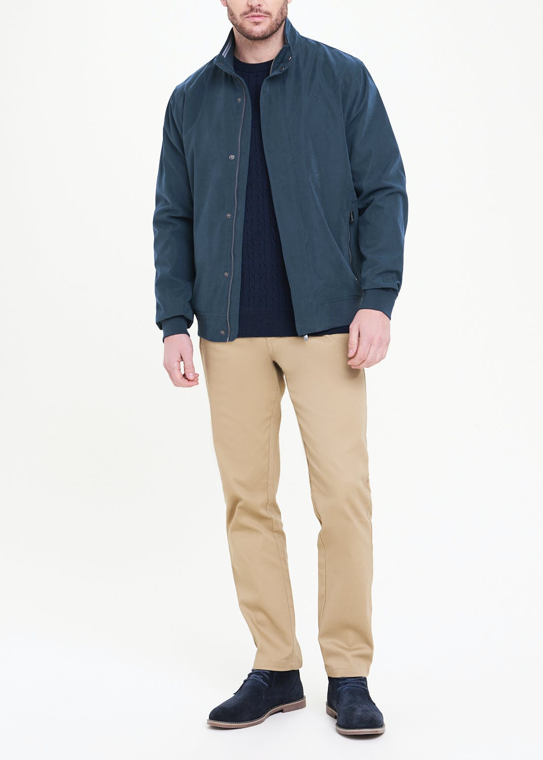 Lincoln Navy Harrington Jacket