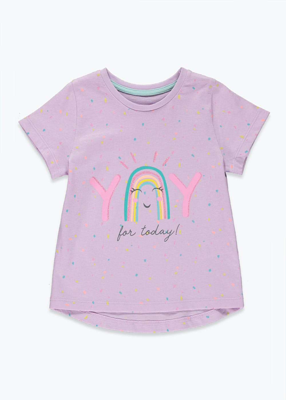 Girls Yay For Today T-Shirt (9mths-6yrs) – Lilac