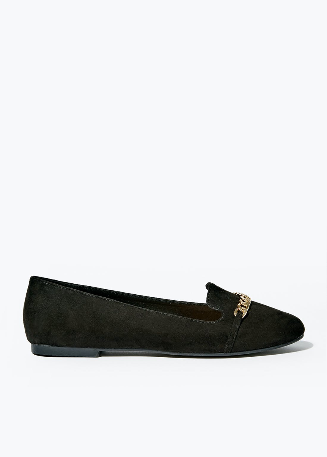 Black Chain Loafers