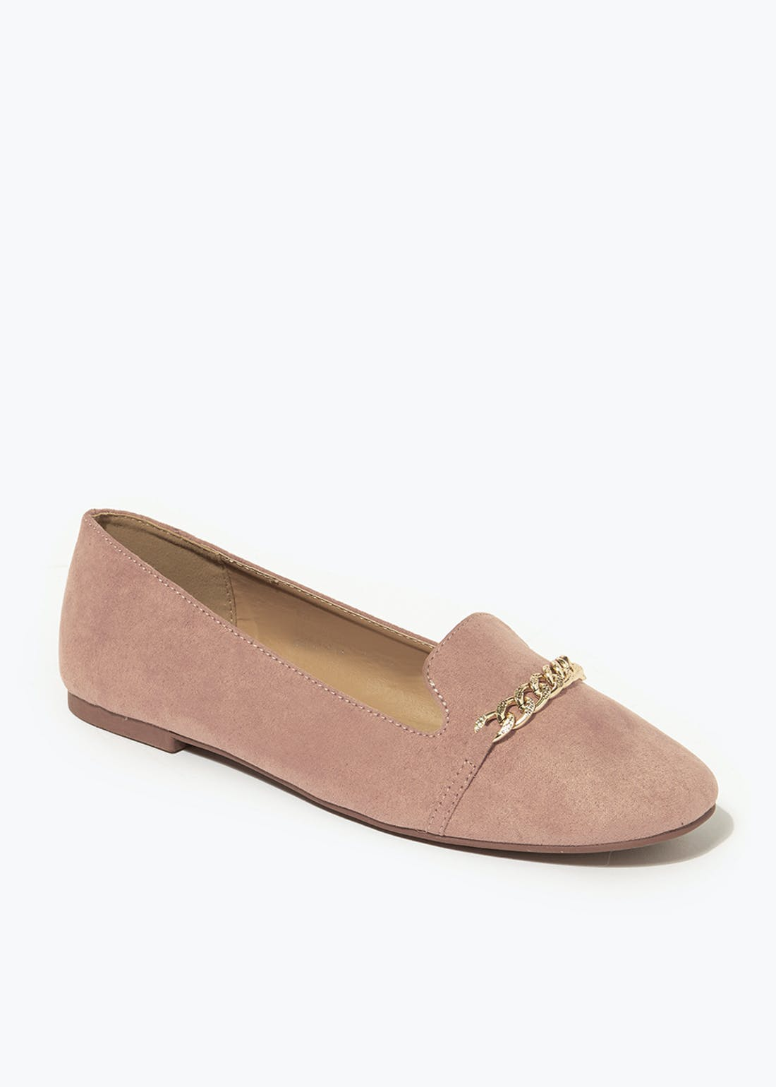 Blush Pink Chain Loafers