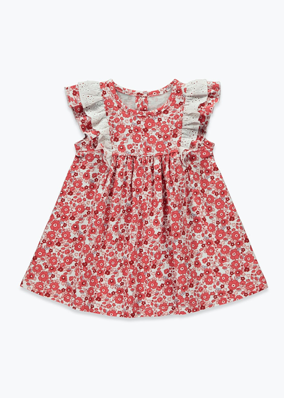 Girls Floral Print Frill Dress (Tiny Baby-23mths)