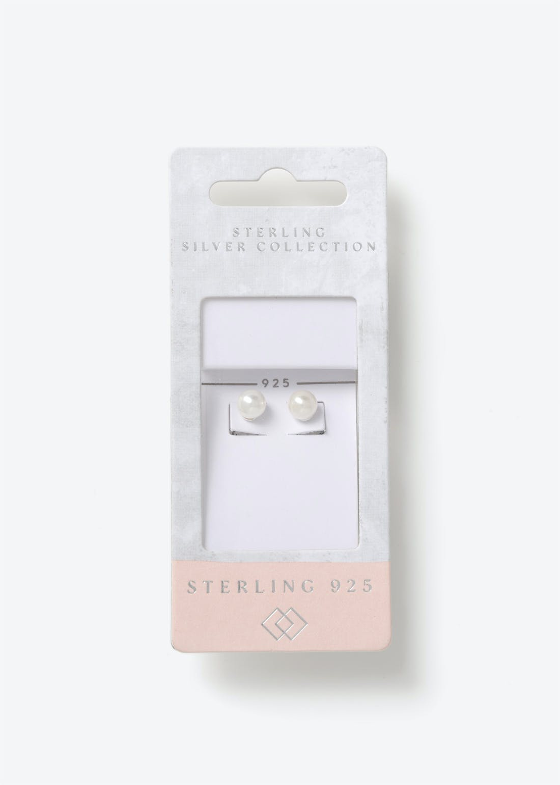 Sterling Silver Pearl Studs