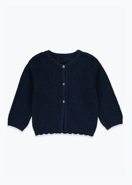 Unisex Nautical Textured Cardigan (Newborn-23mths)