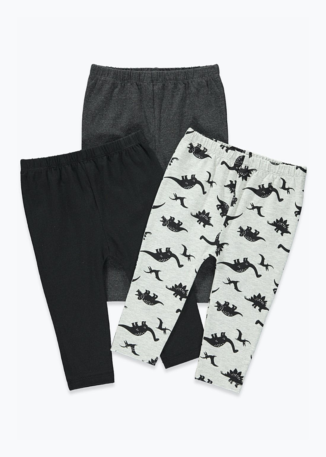Unisex 3 Pack Dinosaur Leggings (9mths-6yrs)