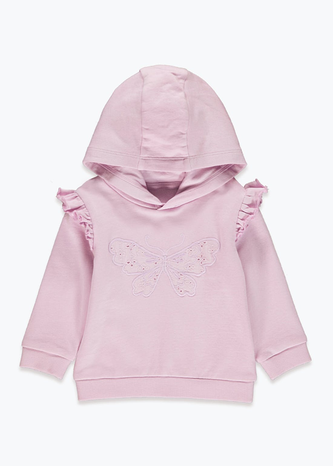 Girls Butterfly Broderie Hoodie (9mths-6yrs)