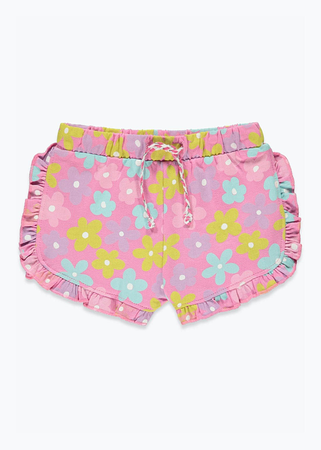 Girls Floral Frill Shorts (9mths-6yrs)