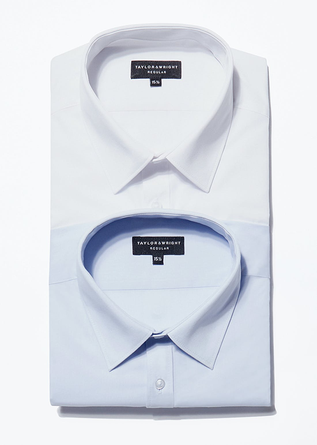2 Pack Taylor & Wright Long Sleeve Regular Fit Shirts