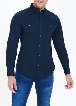 Slim Fit Oxford Utility Shirt