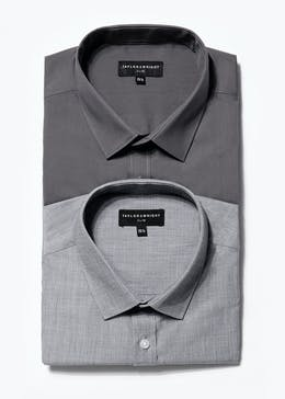 2 Pack Taylor & Wright Long Sleeve Slim Fit Shirts