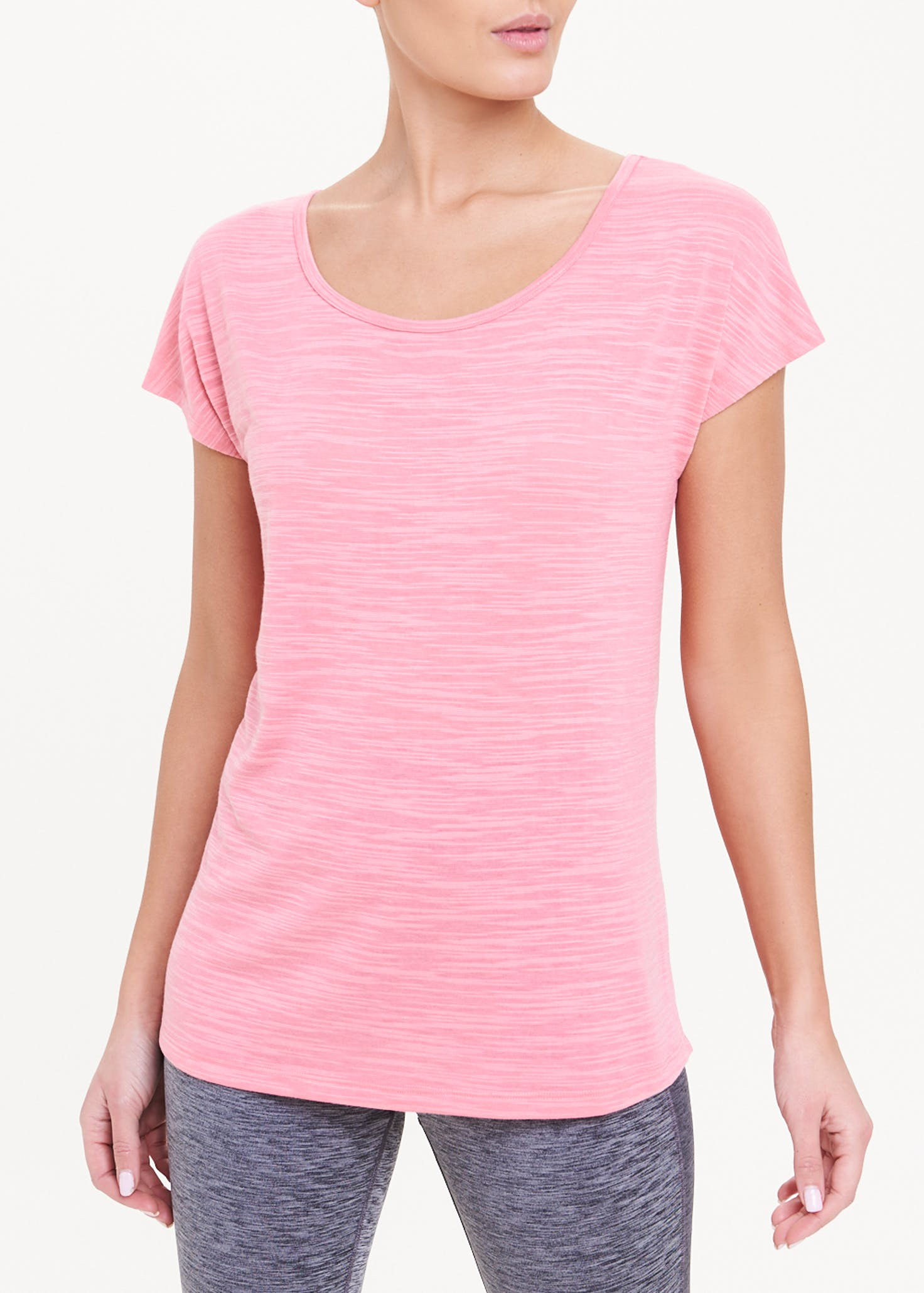 Soluxe - Pink - cross - back - gym-t-shirt-coral