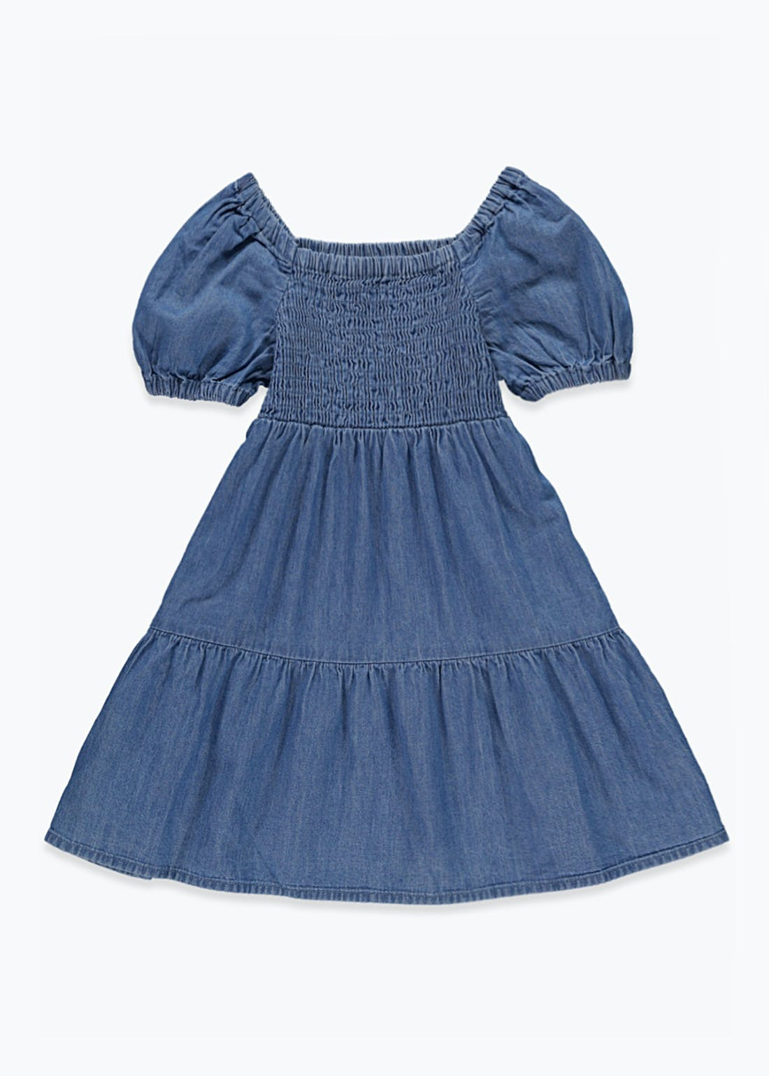 Girls Tiered Denim Dress (9mths-6yrs)