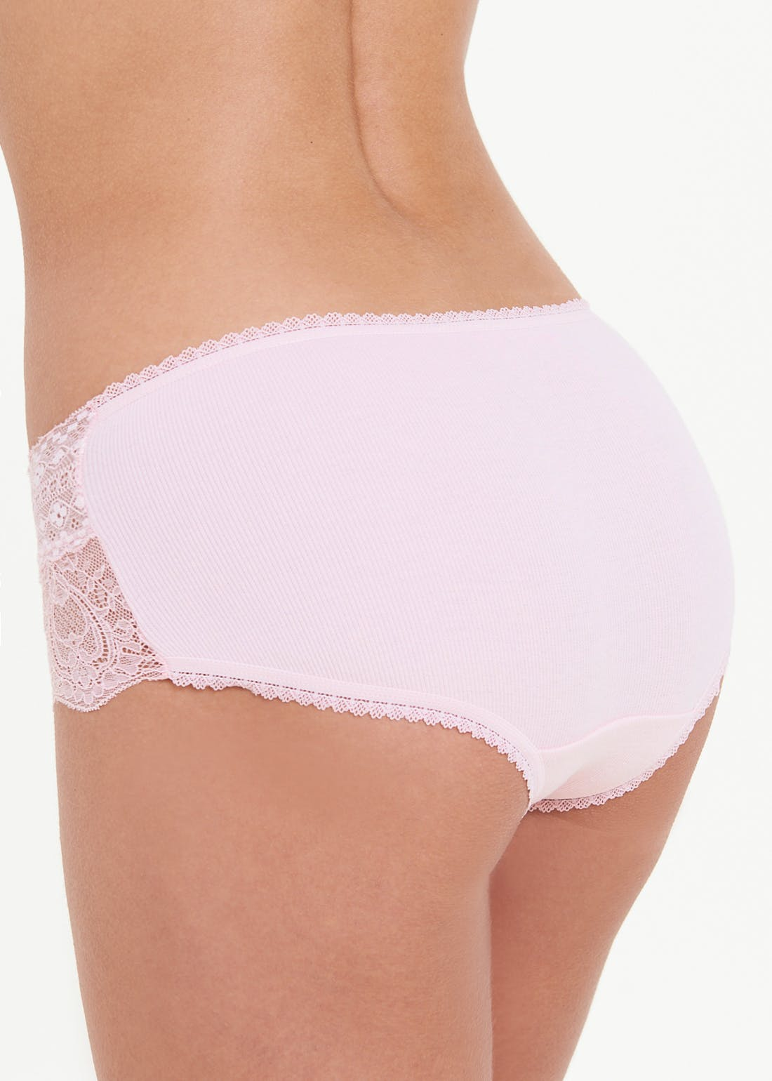 3 Pack Lace Trim Short Knickers