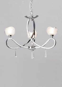 Inlight Silva 3 Arm Glass Ceiling Light (60cm x 40cm x 40cm)