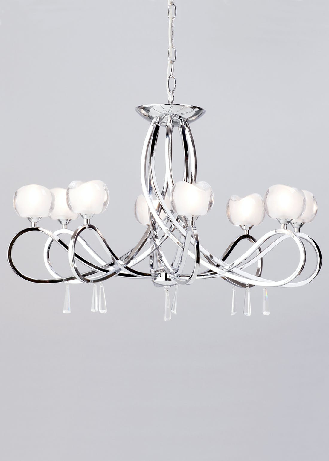 Inlight Silva 8 Light Glass Ceiling Light (80cm x 63cm x 63cm)