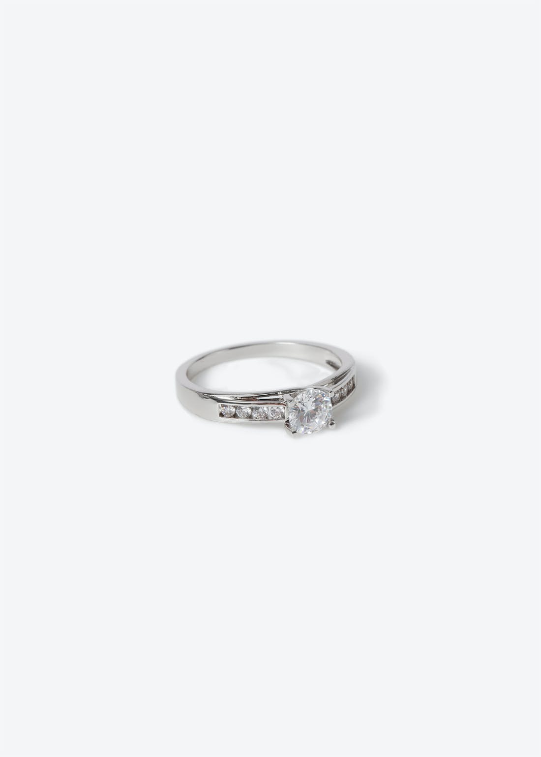 Platinum Plated Engagement Style Ring