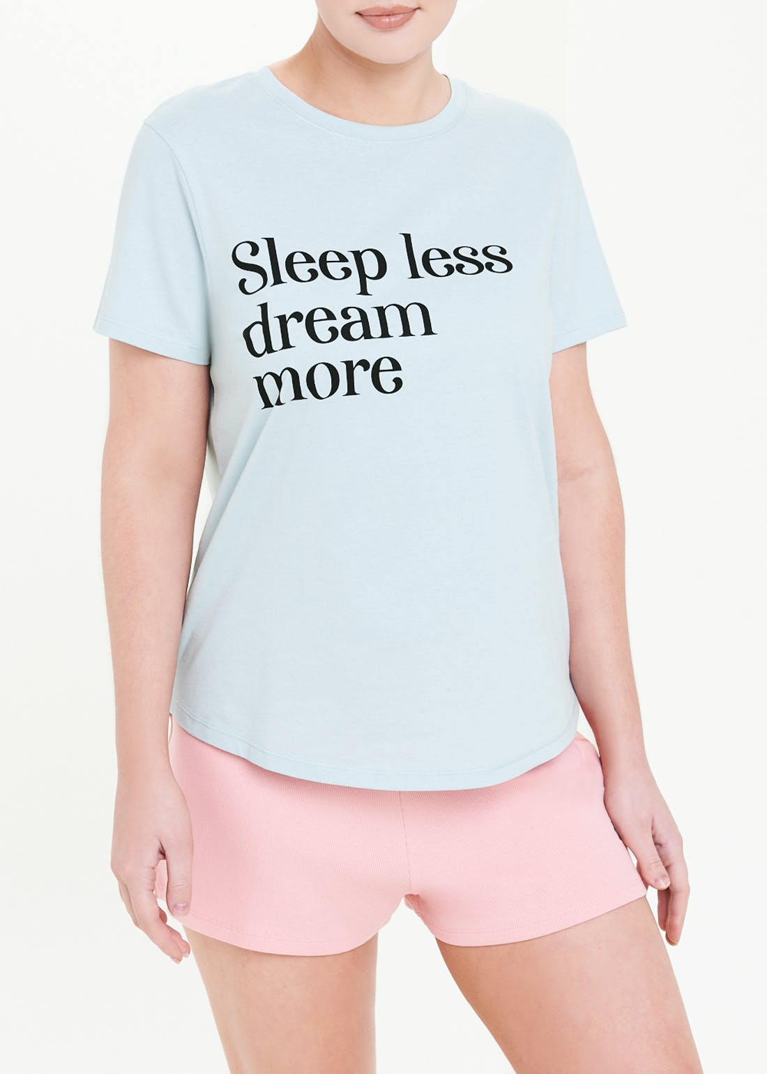 Dream More Slogan Pyjama Top