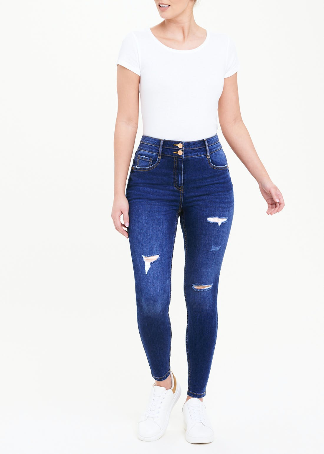 April Push Up Ripped Skinny Jeans