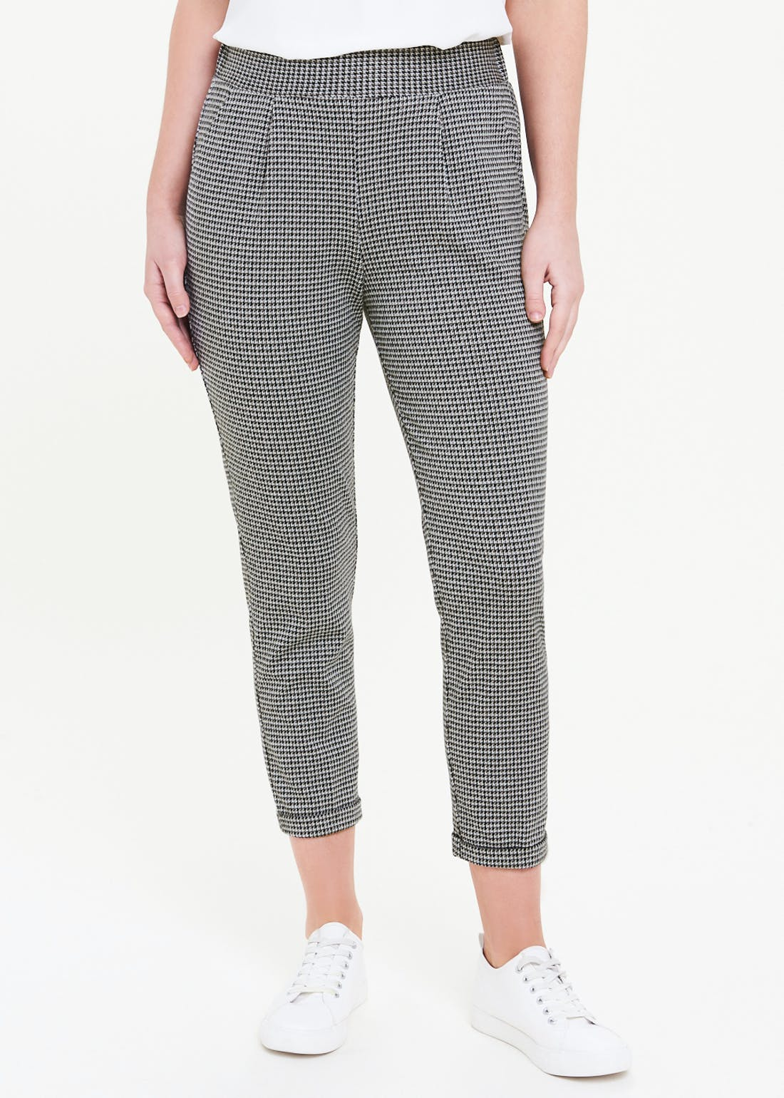 Micro Check Ponte Trousers