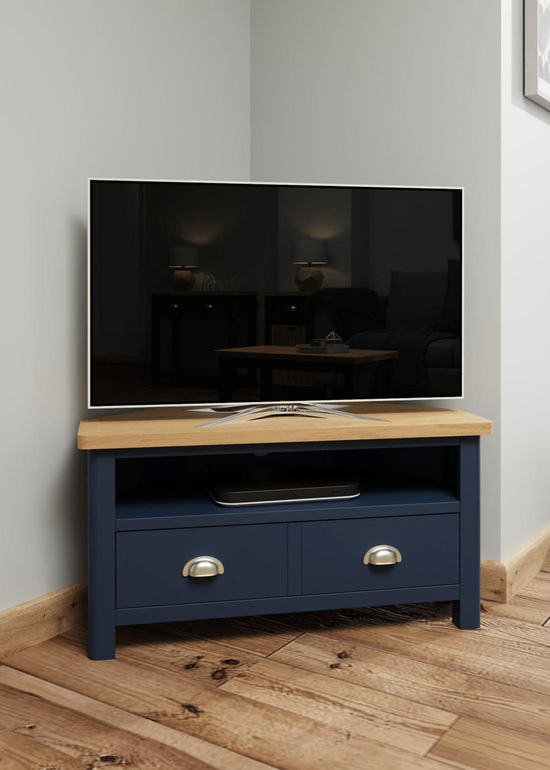 Interiors Direct Reanne Corner TV Unit (90cm x 48cm x 44cm)