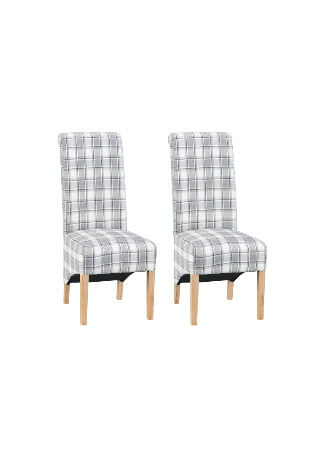 Interiors Direct 2 Pack Arundel Scroll Back Chairs (105cm x 66cm x 47cm)