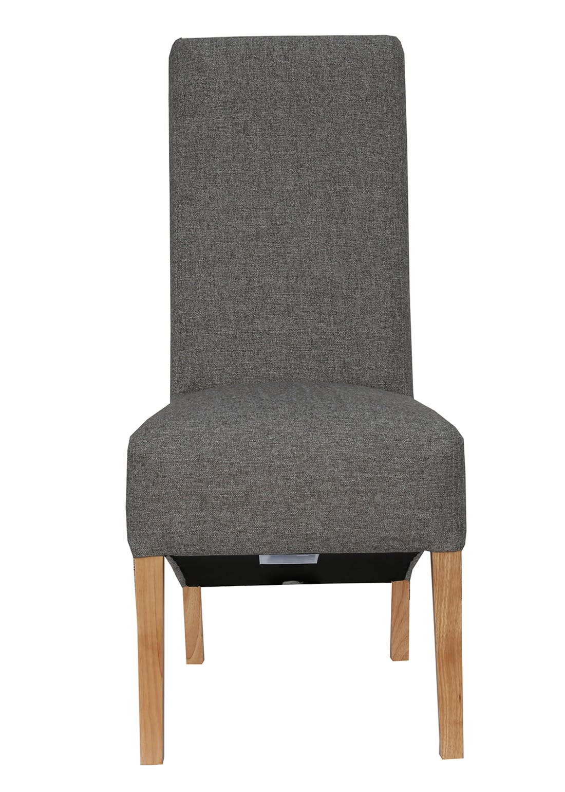 Interiors Direct 2 Pack Arundel Scroll Back Fabric Chairs (105cm x 65cm x 46cm)
