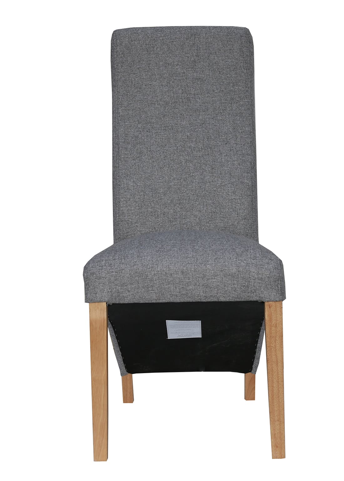 Interiors Direct 2 Pack Arundel Wave Back Fabric Chairs (105cm x 65cm x 46cm)