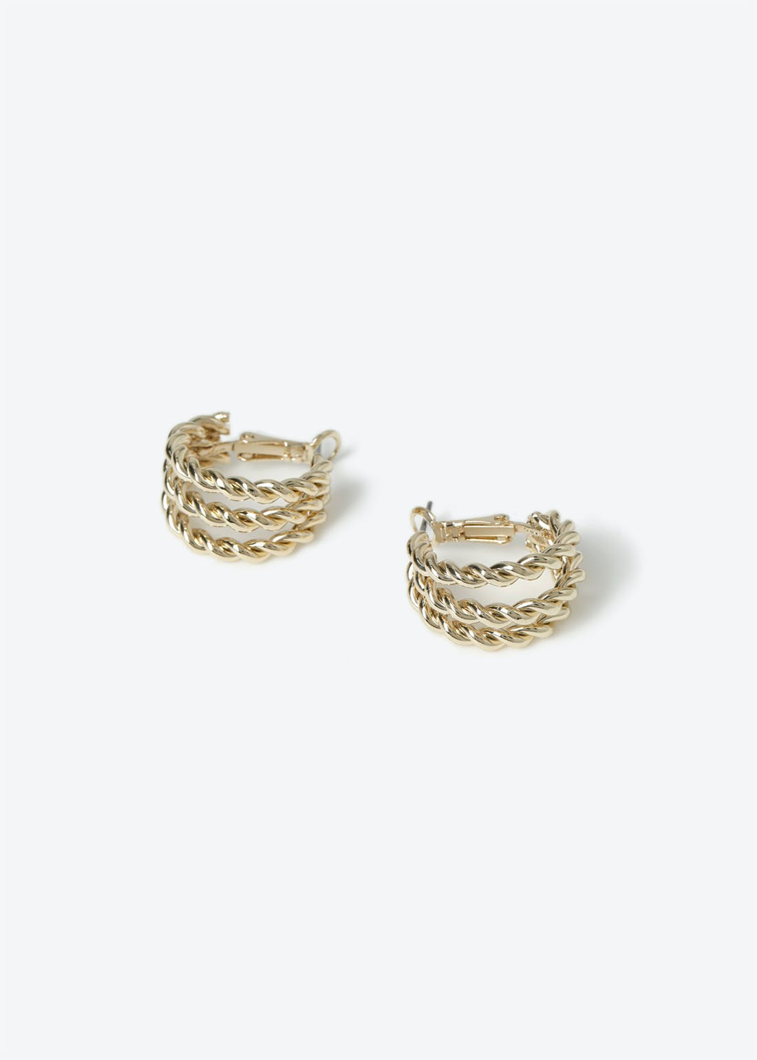 Twist Multi  Row Hoops