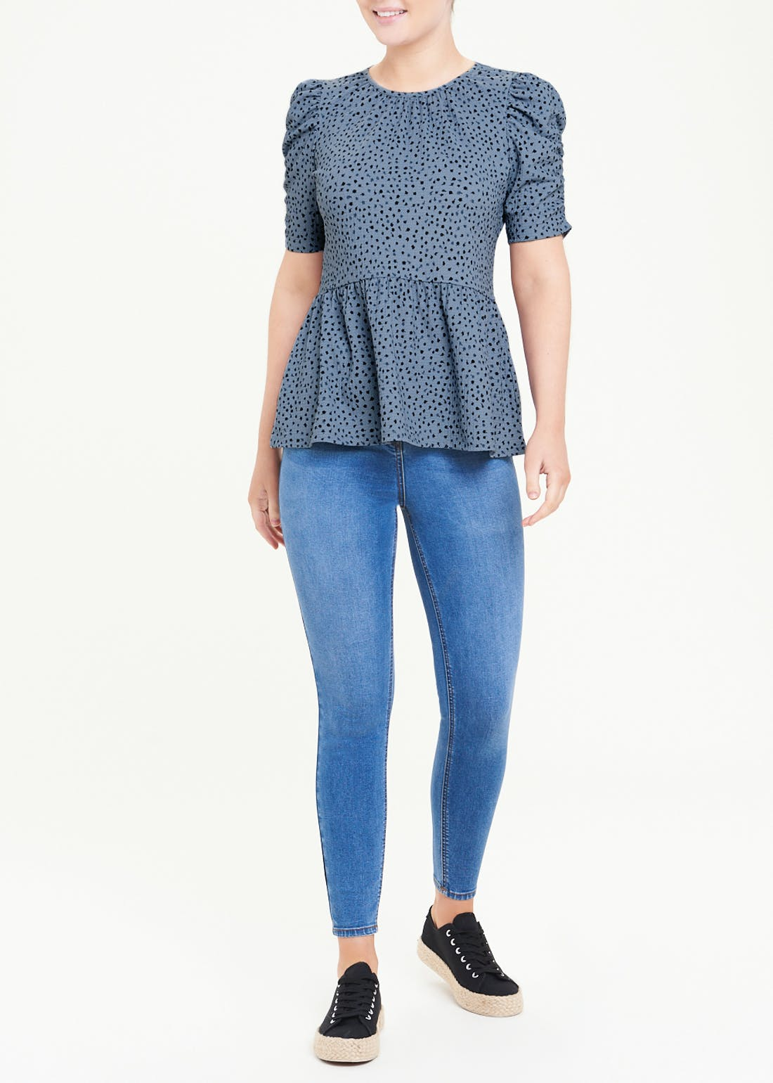 Peplum Textured T-Shirt