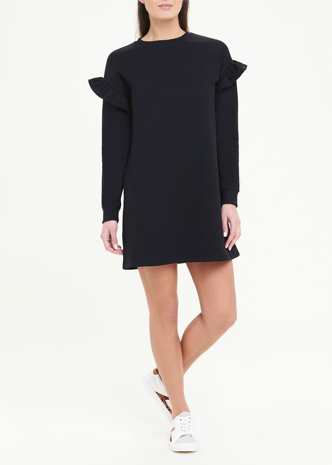 Frill Sweater Dress