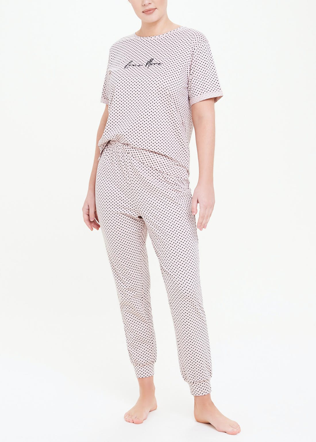 Love More Polka Dot Pyjama Set