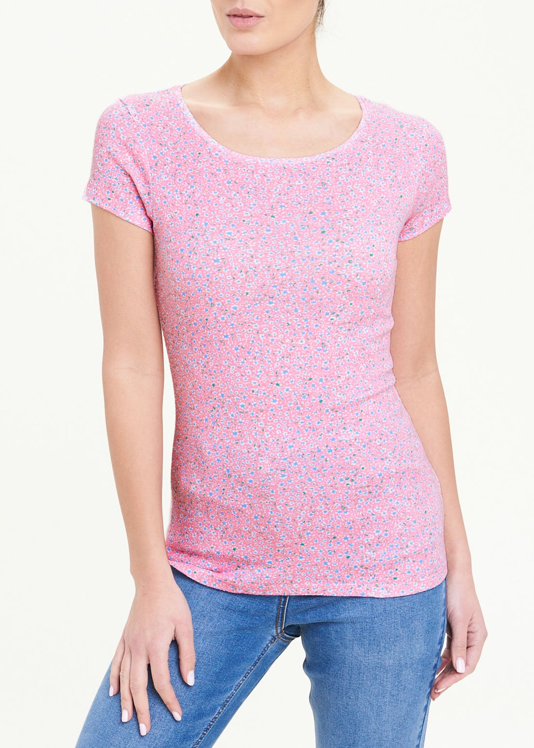 Perfect Short Sleeve Floral T-Shirt