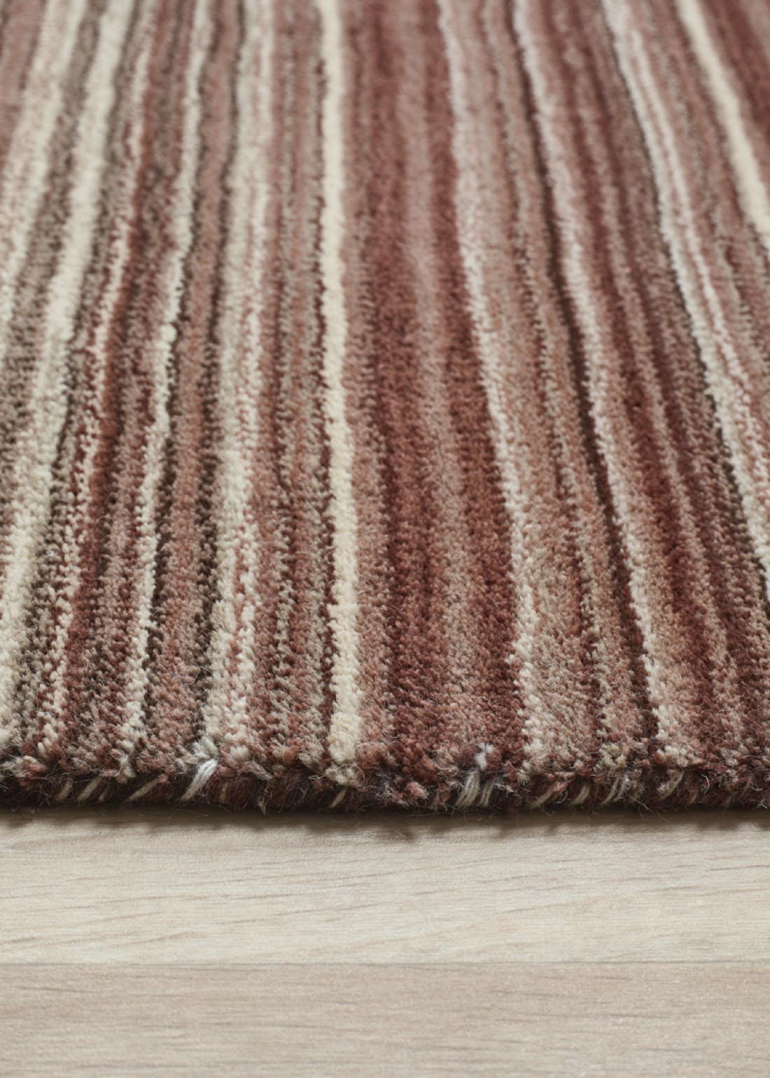 Origins Natural Fine Stripes Wool Rug