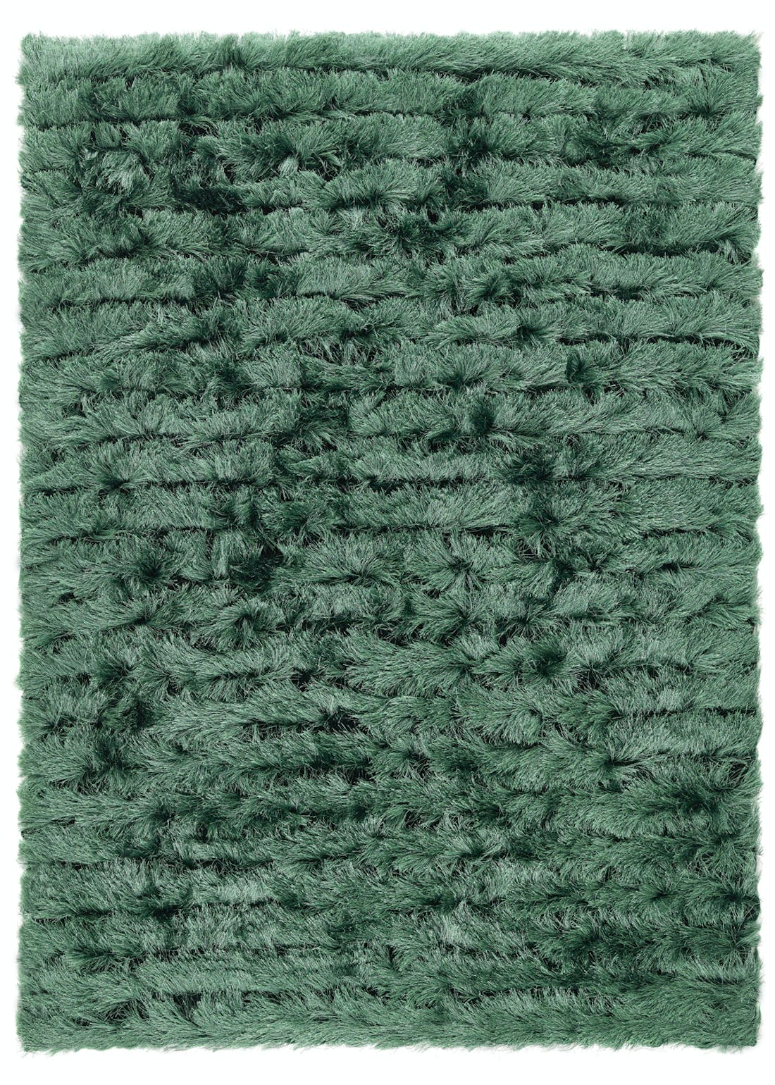 Origins Forest Green Carved Glamour Rug