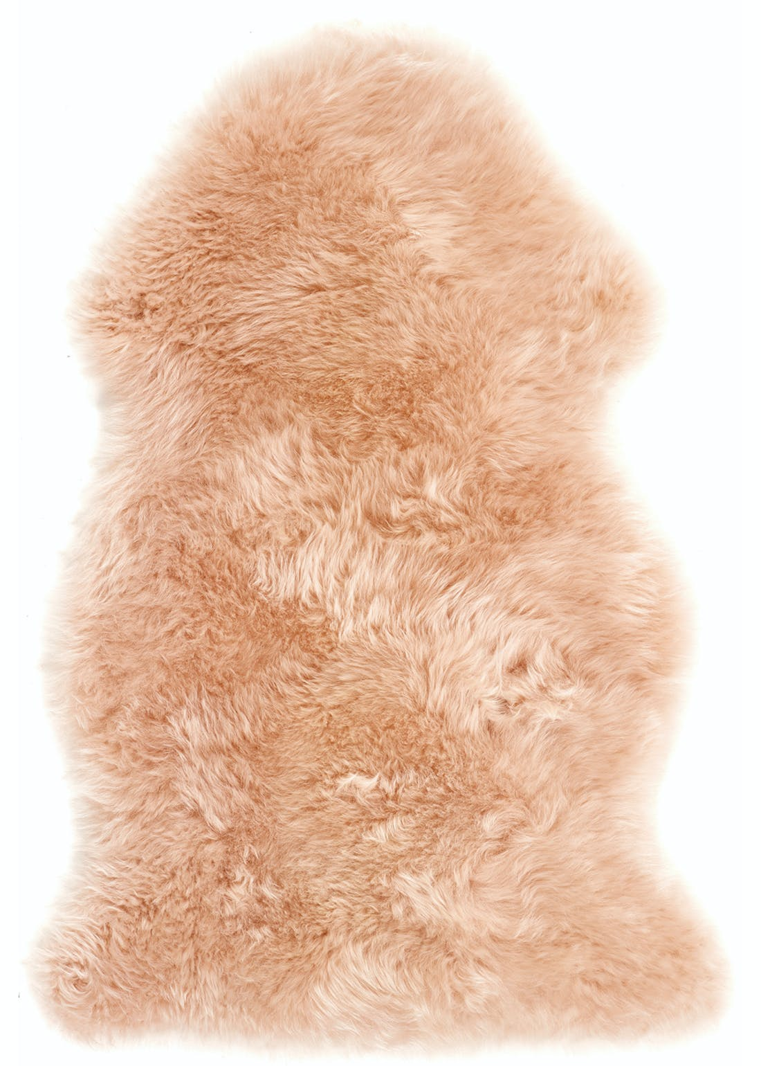 Origins Blush Pink Genuine Sheepskin Rug (95cm x 65cm)