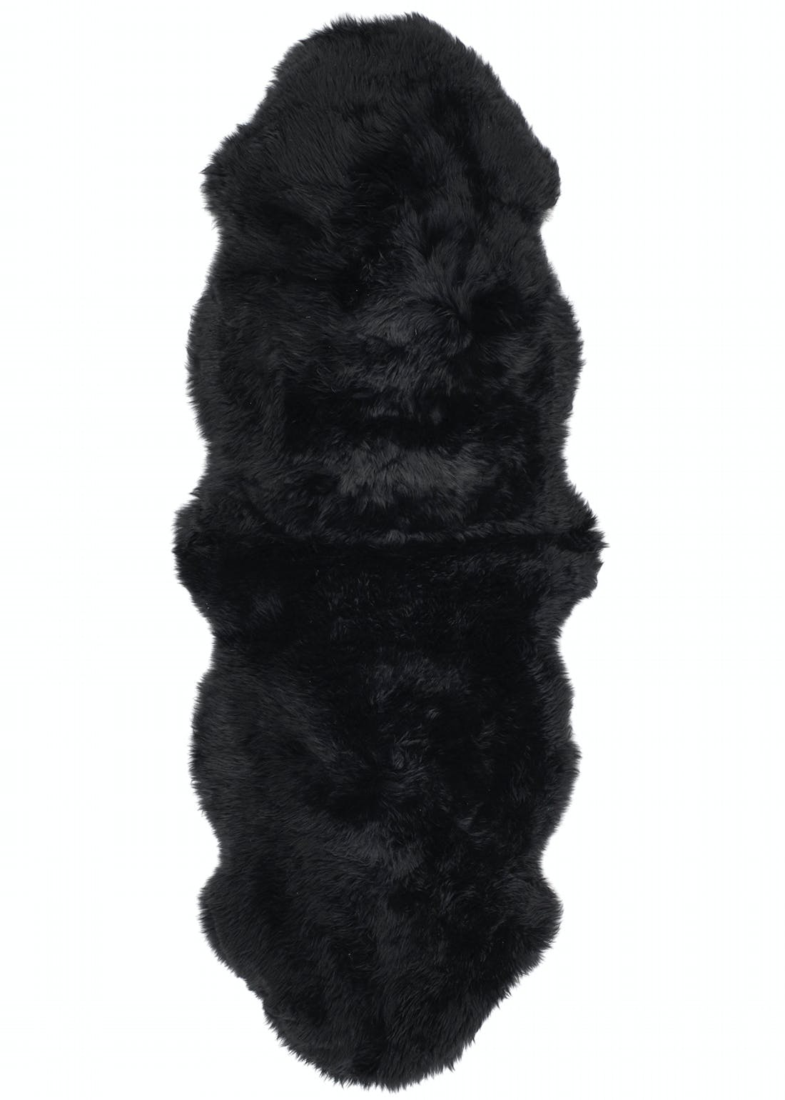 Origins Black Genuine Sheepskin Rug