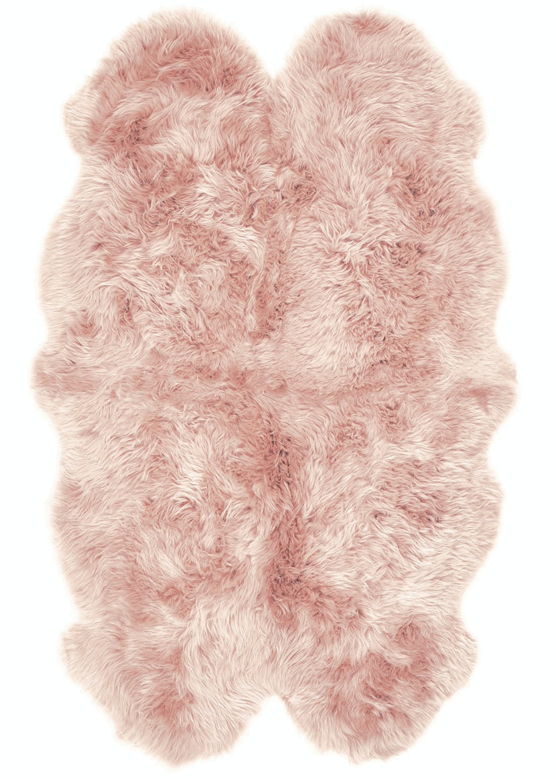 Origins Rose Genuine Sheepskin Adobe Rug (160cm x 105cm)