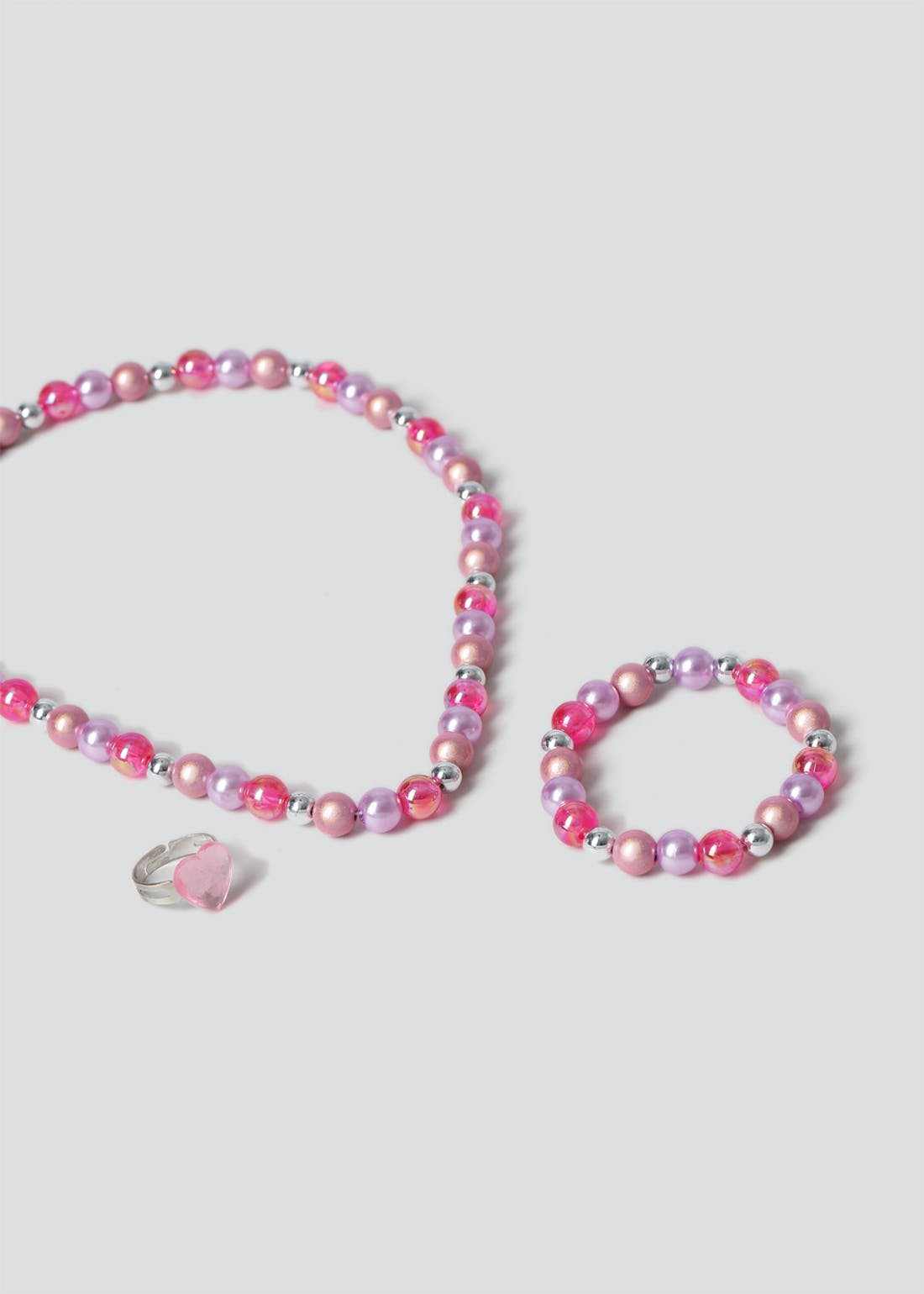 Girls Pink Heart Jewellery Multipack