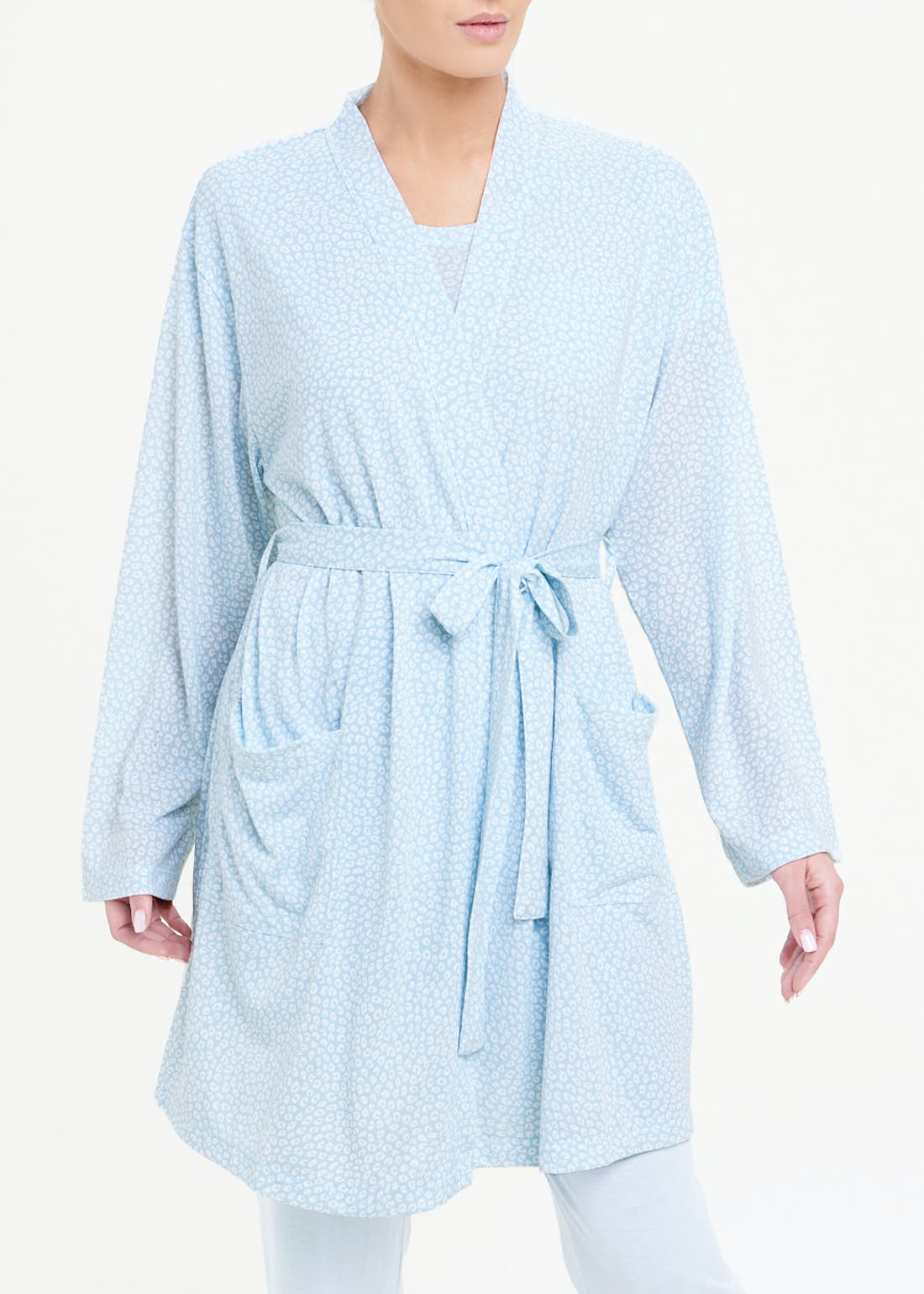 Printed Short Dressing Gown
