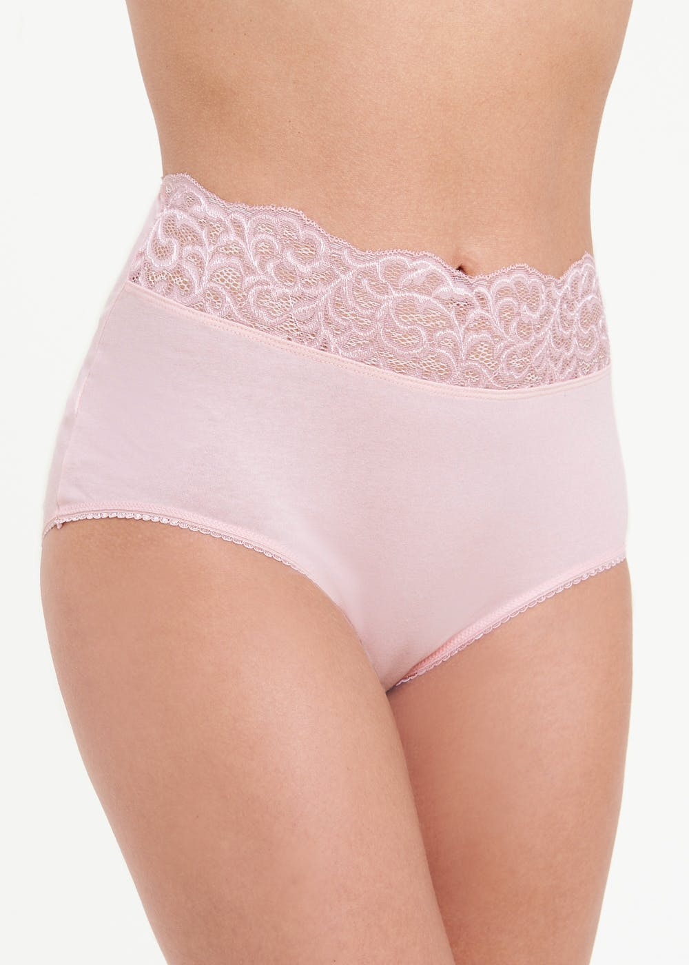 5 Pack Lace Trim Full Knickers – Multi
