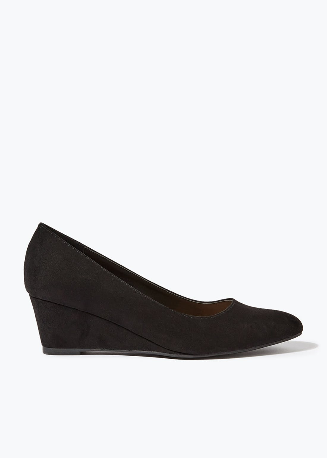 Black Wedge Court Shoes