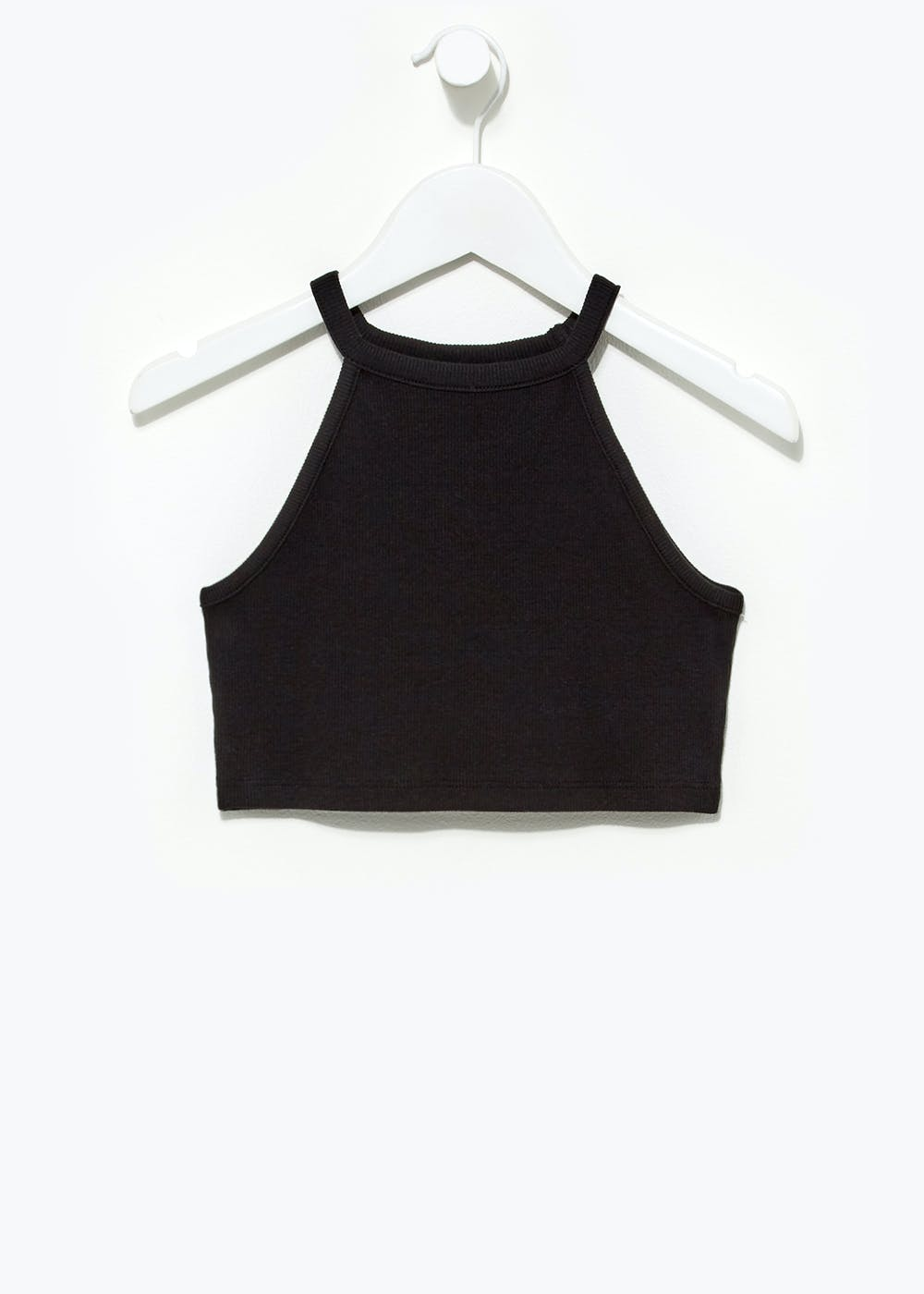 Girls Candy Couture Cropped Vest Top (9-16yrs) – Black